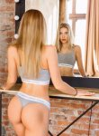 Lily escort Golden haired Baltic girl with Slender body